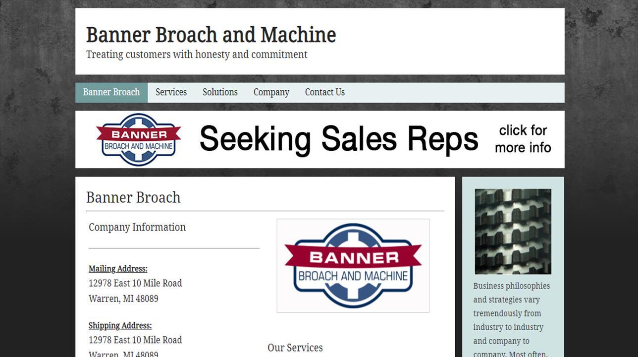 Banner Broach & Machine