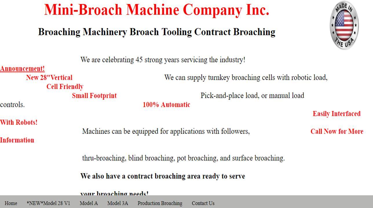 Mini-Broach Machine Co.™