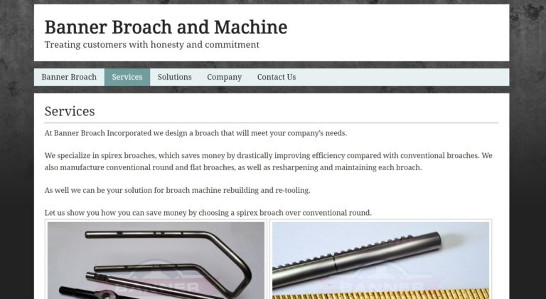 Banner Broach & Machine