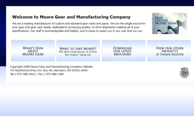 Moore Gear & Manufacturing Co., Inc.